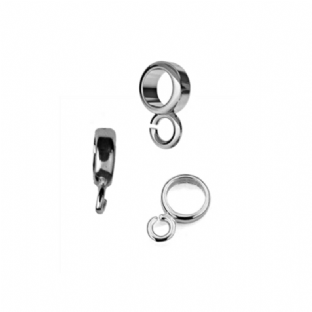 Sterling Silver Charm Bead Carrier Bail